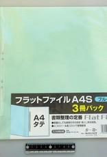 Pika Pika Japan A4 flat file vertical blue 3p