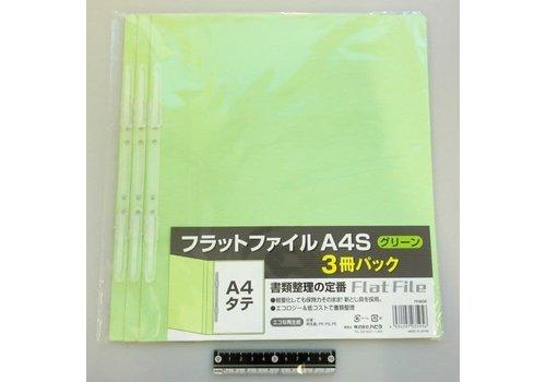 A4 flat file vertical green 3p