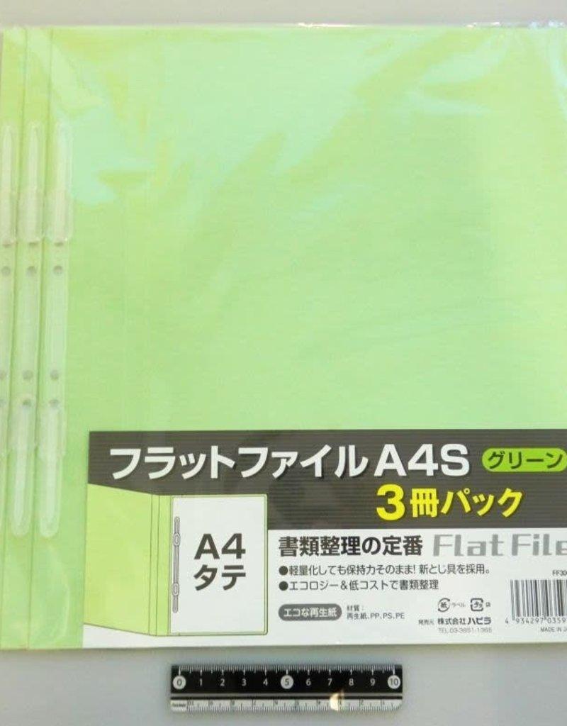 Pika Pika Japan A4 flat file vertical green 3p