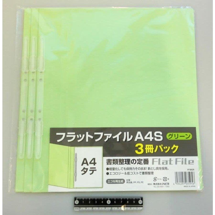 A4 flat file vertical green 3p-1