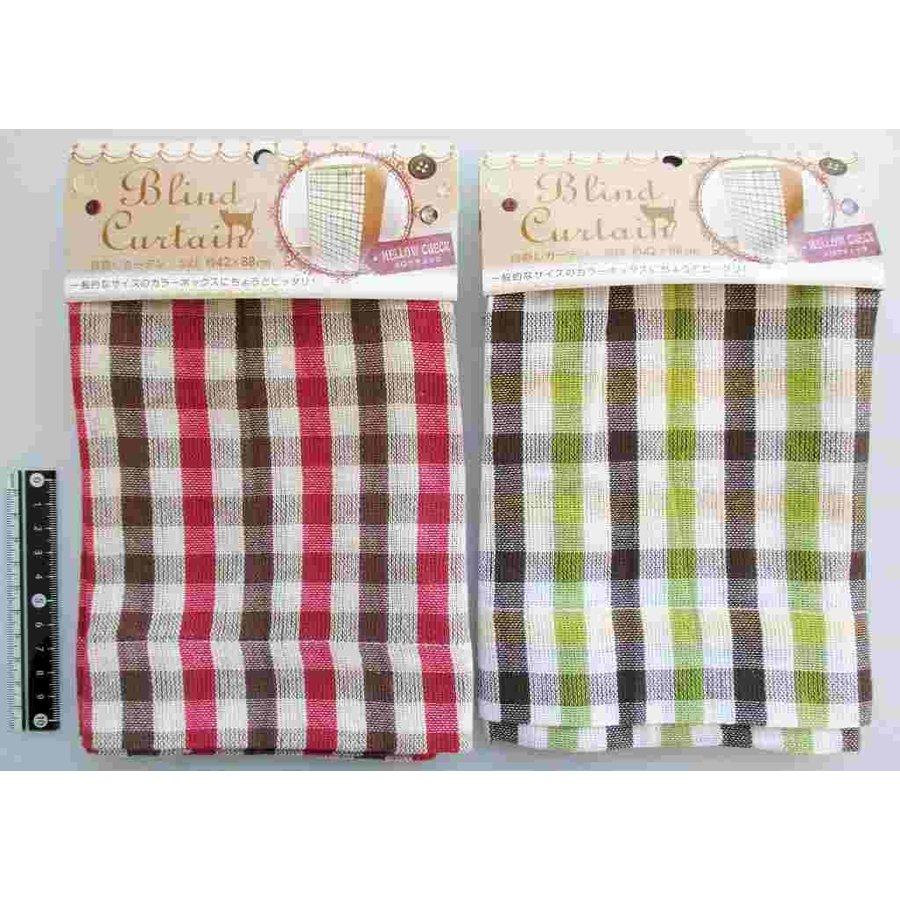 Blind curtain mellow check-1