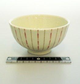 Pika Pika Japan Rice bowl red dot and stripes