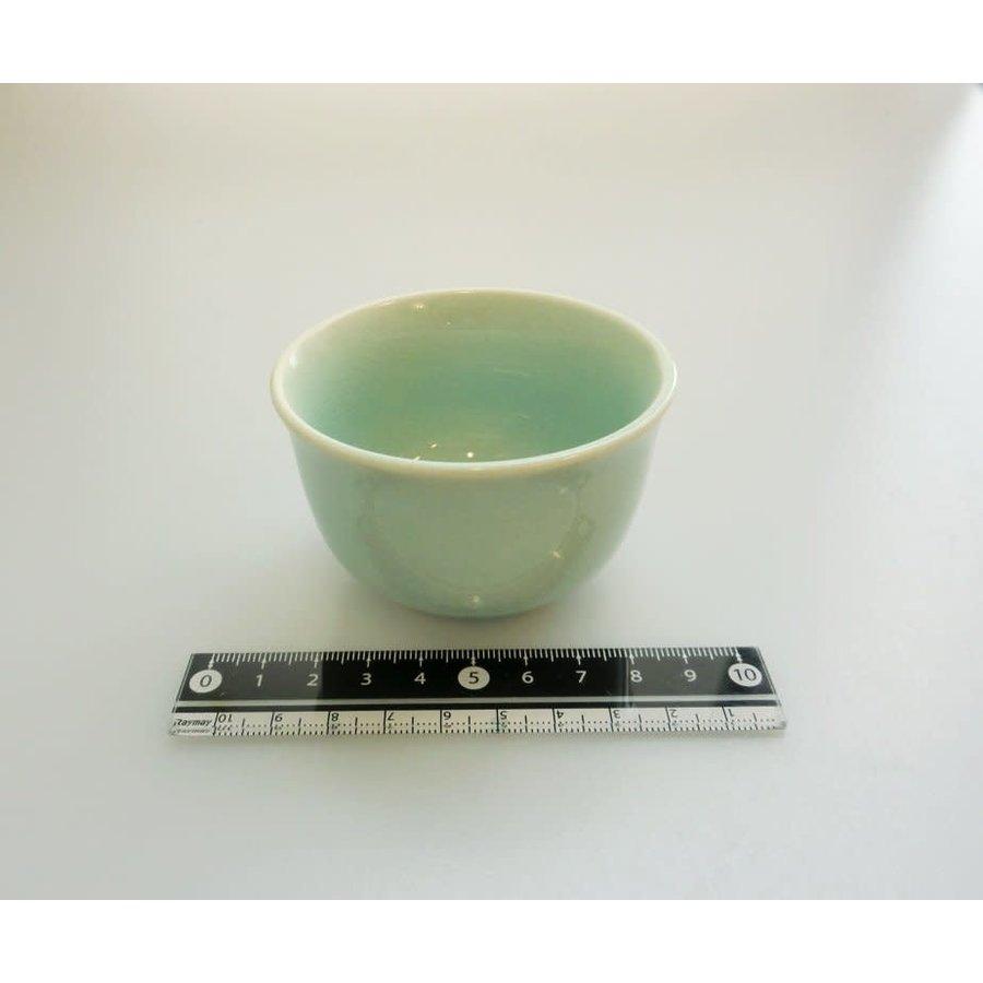 Kyo style Kozuke cracked pattern small bowl blue-1