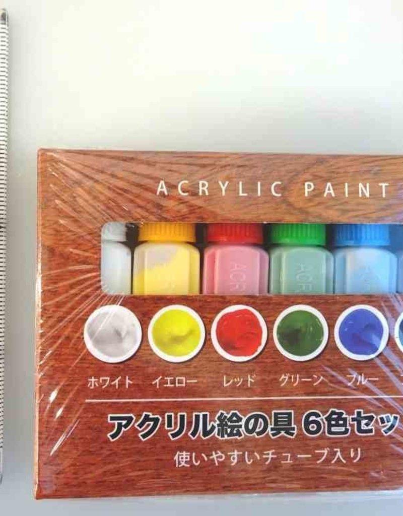 Pika Pika Japan Acrylic paint 6colors set