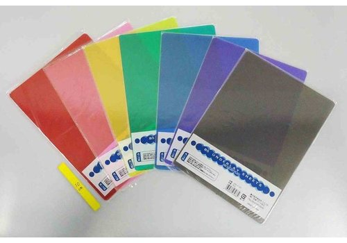Transparet color celluloid sheet for writing B5