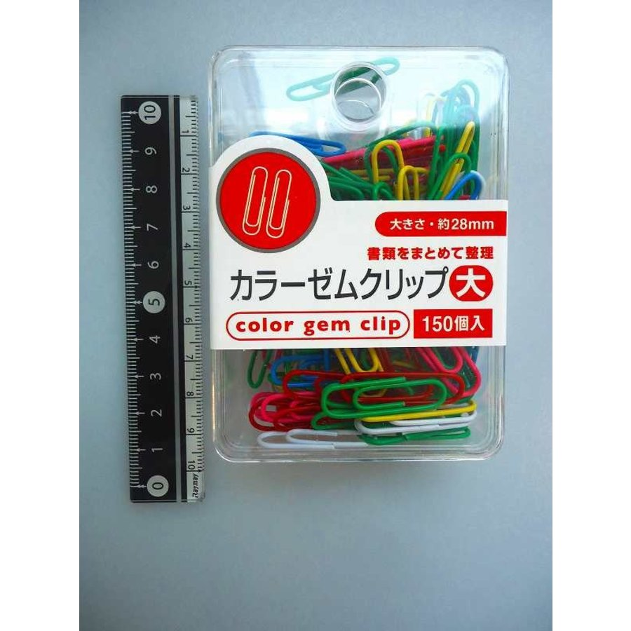 Color paper clip L 28mm 150p-1