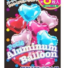 Pika Pika Japan Petit aluminum balloon heart 8p