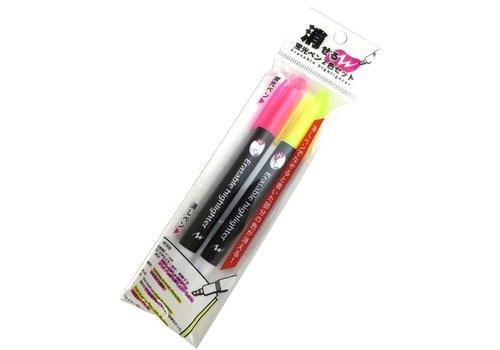 Erasable fluorescent pen 2 colors set