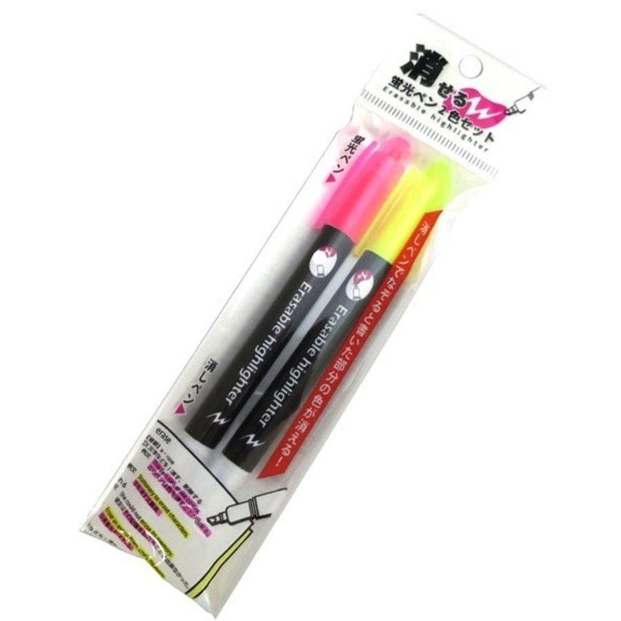 Erasable fluorescent pen 2 colors set-1