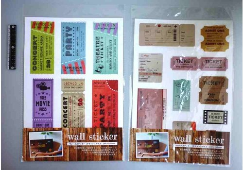 Wall sticker ticket