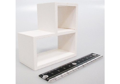Wooden display stand steps