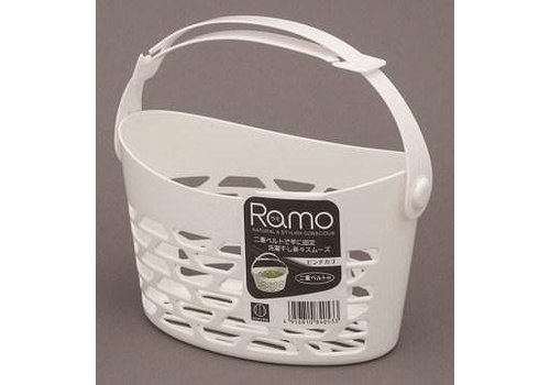 Plastic basket for clothespins, small, white
