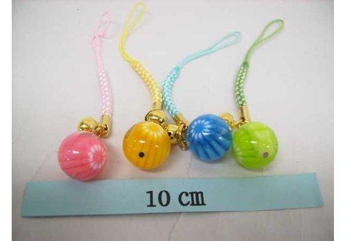 Phone charm strap, flower ball