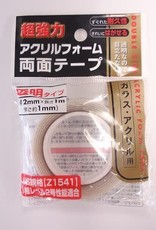 Pika Pika Japan Acrylic foam double sided tape transparent 1m