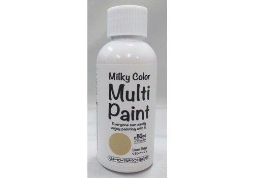 Milky multi paint linen beige