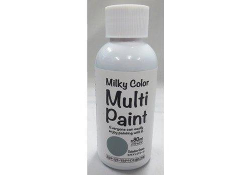 Milky multi paint celadon green