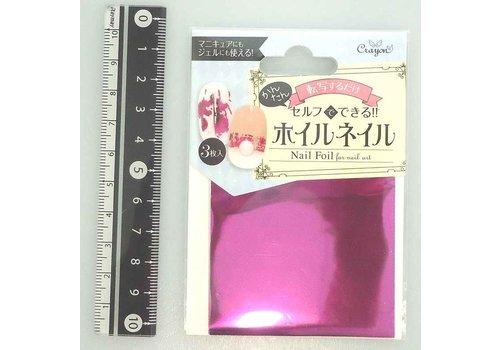 Nail art transfer foil, pink