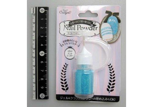 Nail powder mint sugar