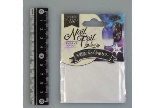 Nail art transfer foil, white