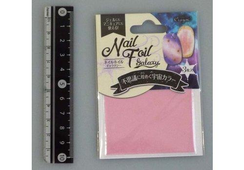 Nail foil galaxy pearl pink