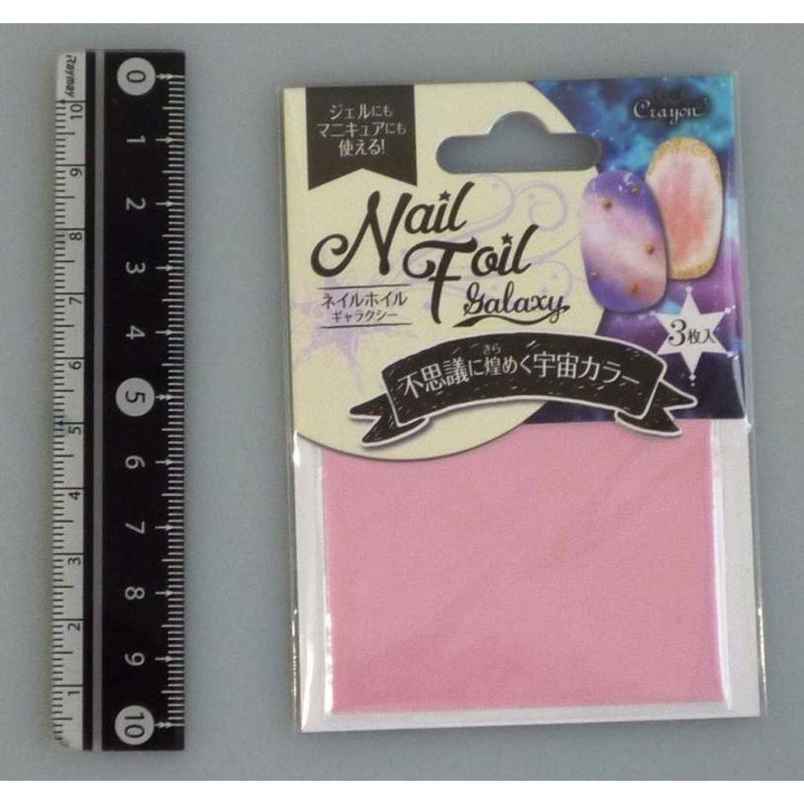 Nail foil galaxy pearl pink-1