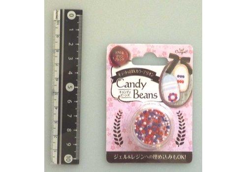 Candy motif beads marine blend