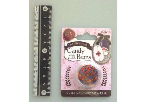 Candy motif beads chocolate blend