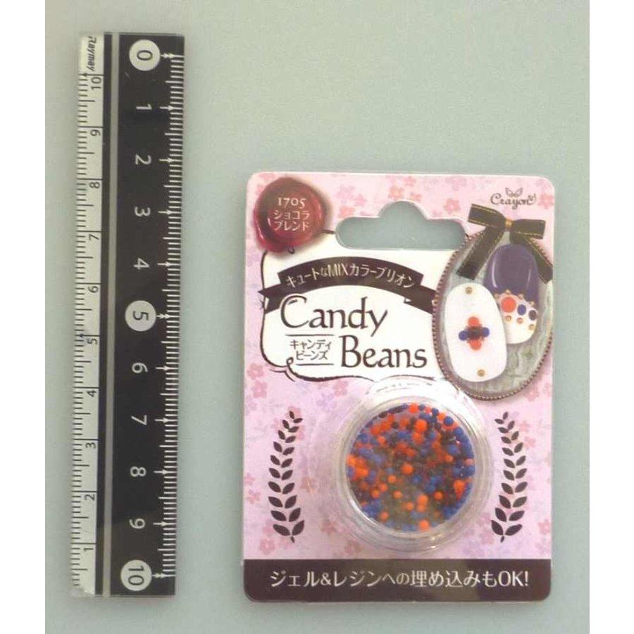 Candy motif beads chocolate blend-1