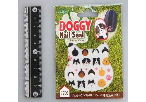 Doggy nail sticker doggy face3
