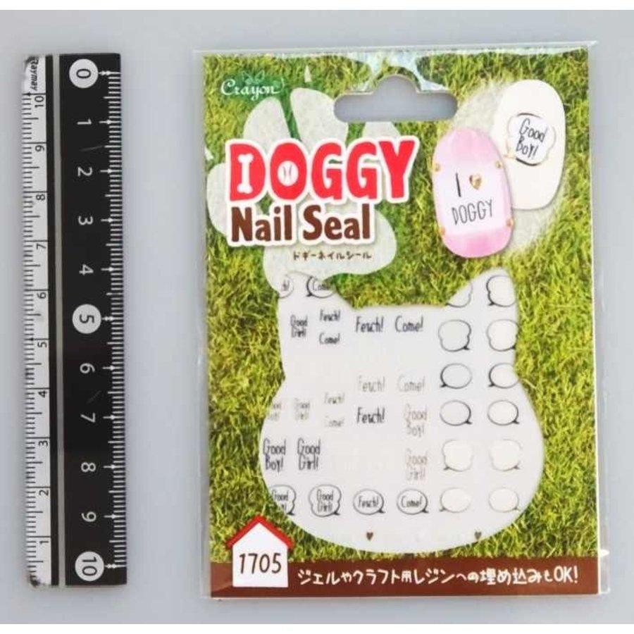 Nail sticker, speech balloon-1