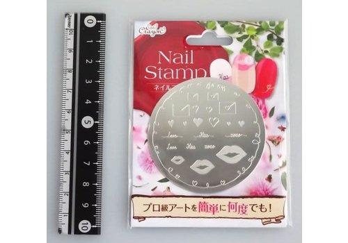 Nail stamp 6 love letter