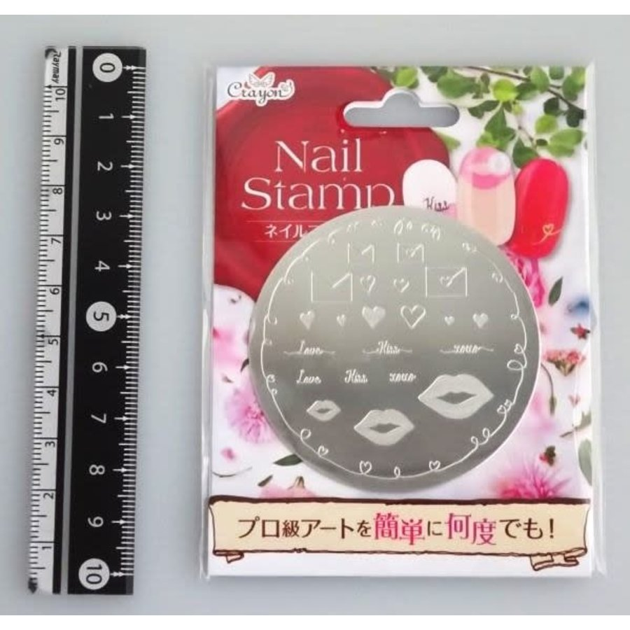 Nail stamp 6 love letter-1