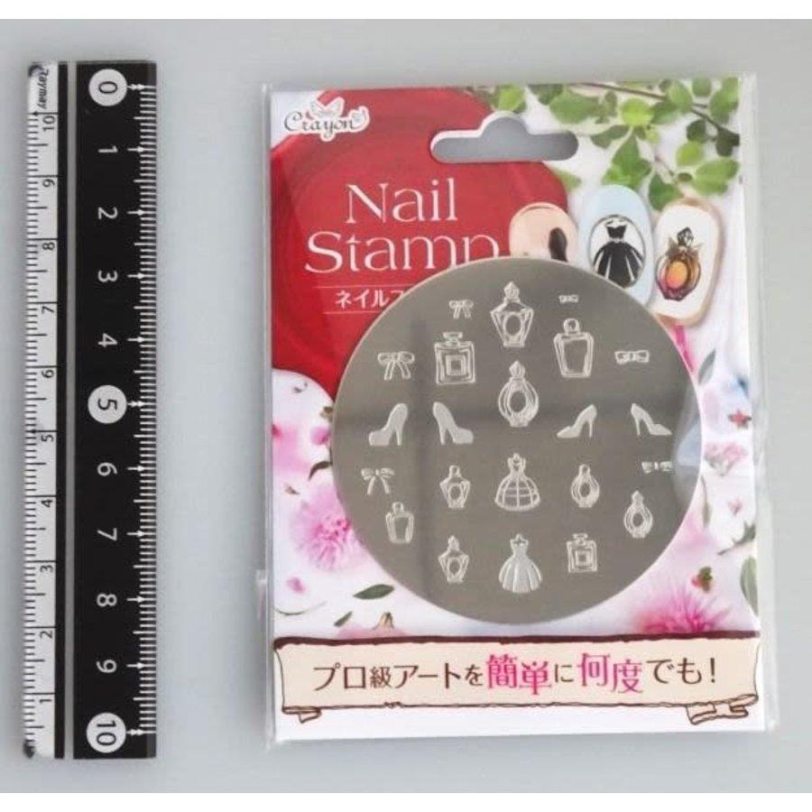 Nail stamp 6 girl's closet-1