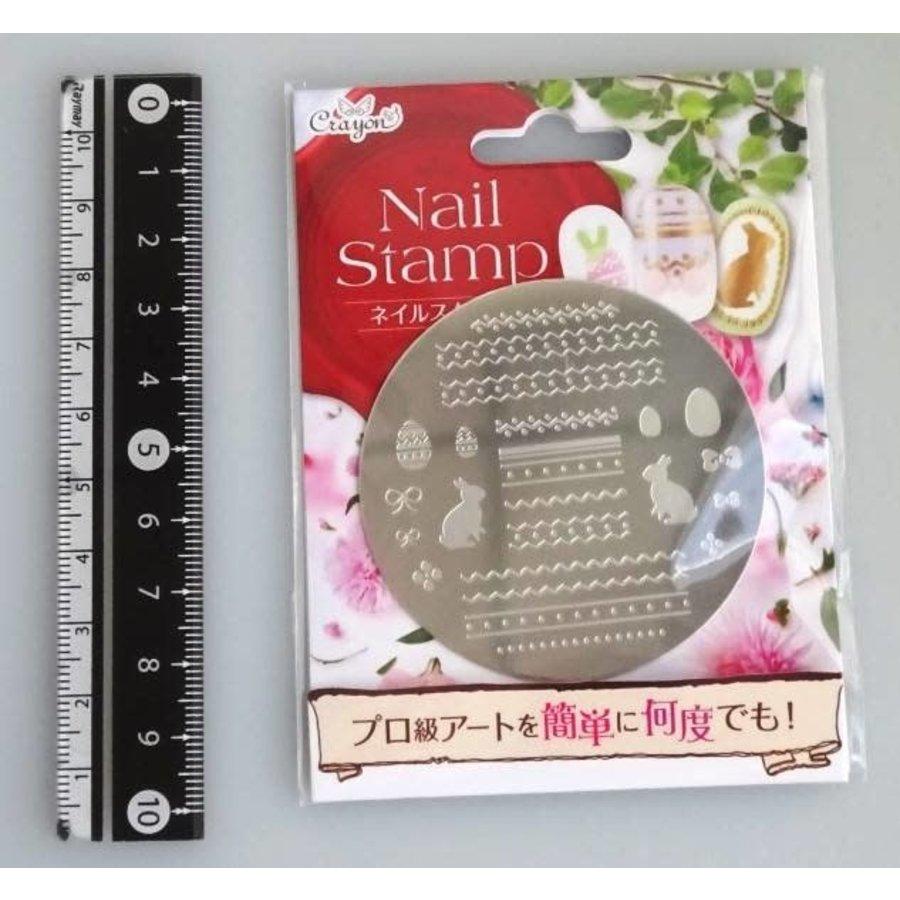 Nail stamp 6 happy bunny-1