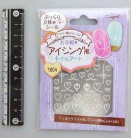 Pika Pika Japan Wire motif nail seal 2 decoration heart