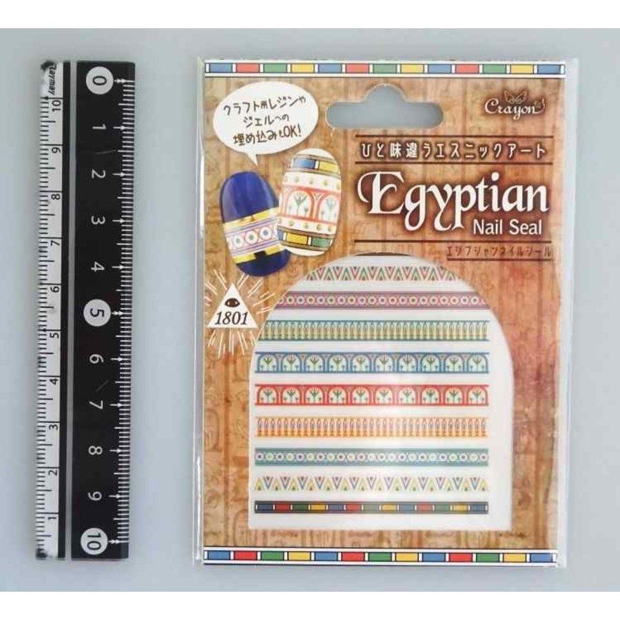 Nail sticker, egyptian pattern-1