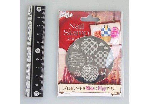 Nail stamp 7 Japanese modern pattern