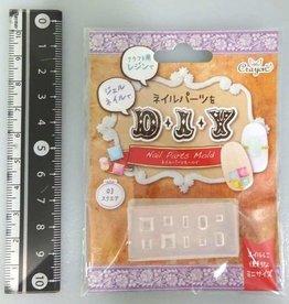 Pika Pika Japan Nail parts mold square