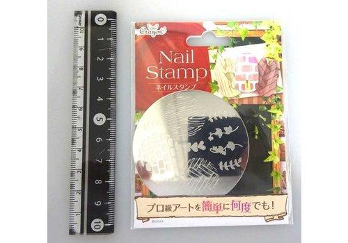 Nail stamp 8 woody wall