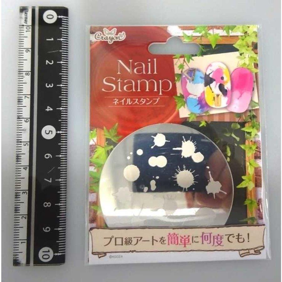 Nail stamp 8 splash-1