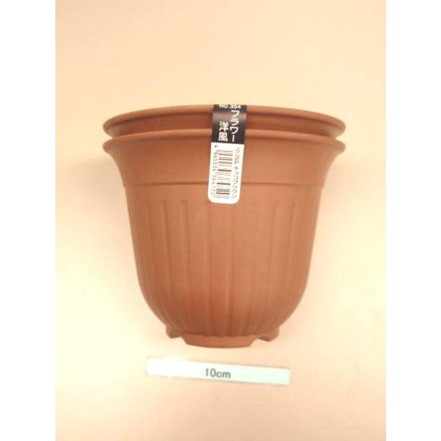 Flower Western-style mini-2P chocolate brown-1