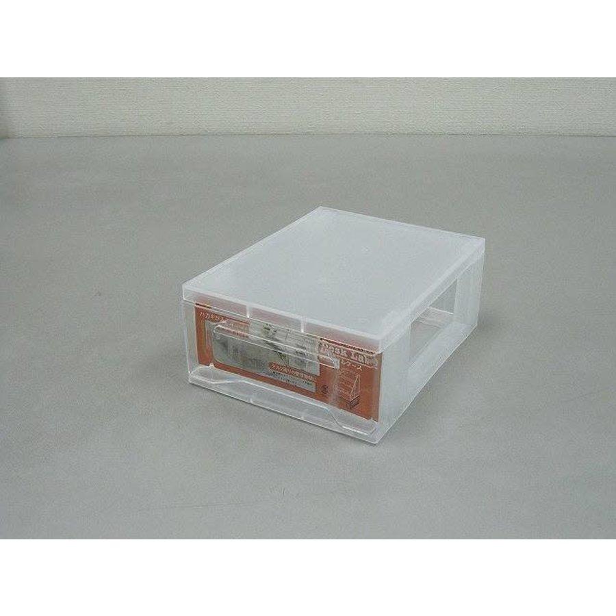 Plastic drawer, small, transparent-1
