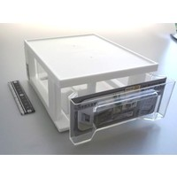 Plastic drawer, small, white
