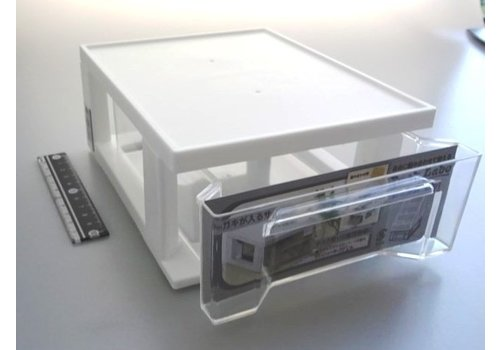 Desk labo pull case white