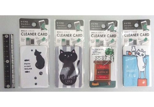 cleaner card for smartphone cat