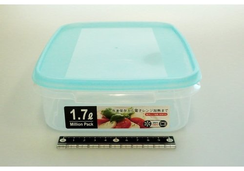 Plastic food canister, large, blue