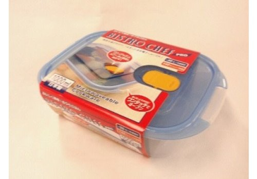Plastic food canister with steam hole 1000ml