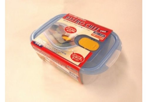 Plastic food canister with steam hole 900ml