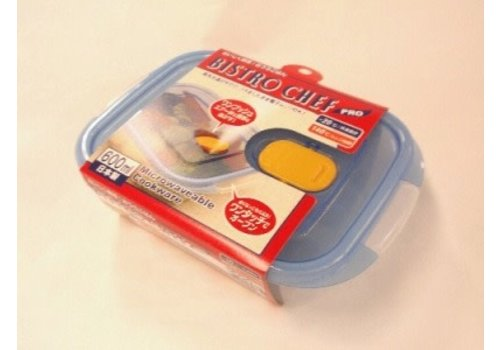 Plastic food canister with steam hole 600ml