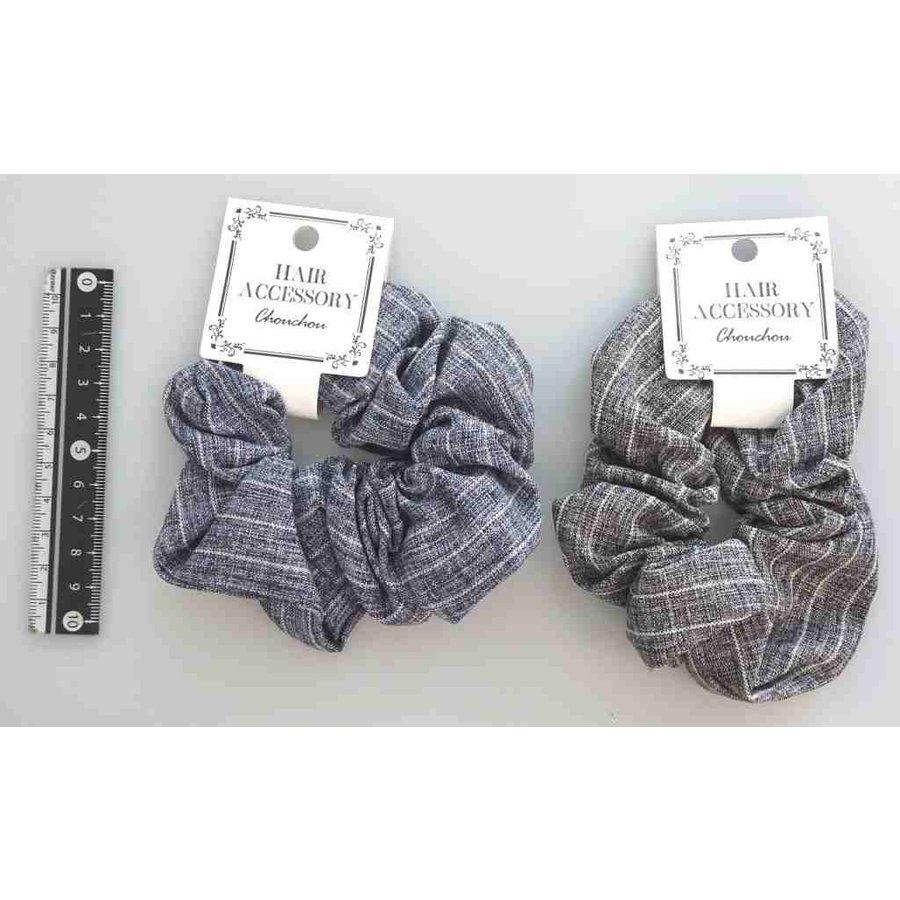 Natural stripe scrunchie-1